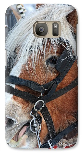 Galaxy Case featuring the photograph Chomping On The Bit by Alyce Taylor