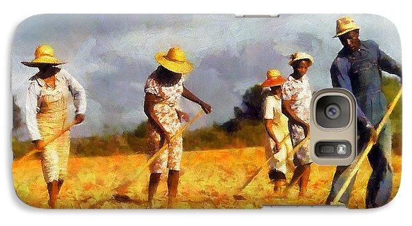 Galaxy Case featuring the digital art Chopping Cotton by Kai Saarto