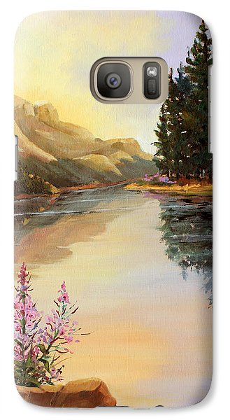 Galaxy Case featuring the painting Chost Island In Morning Colors by Marta Styk