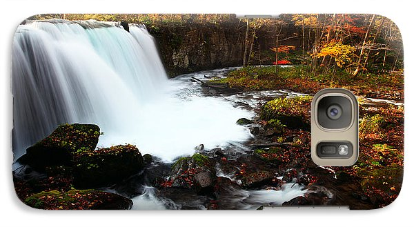 Choushi - Ootaki Waterfall In Autumn Galaxy S7 Case