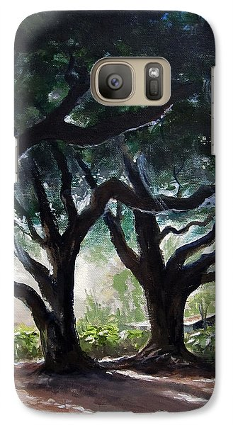 Galaxy Case featuring the painting Chris's Oaks by Carol Hart