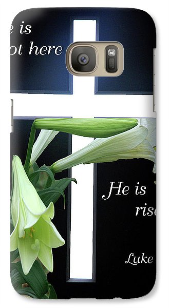 Galaxy Case featuring the photograph Christ Is Risen by Robyn Stacey