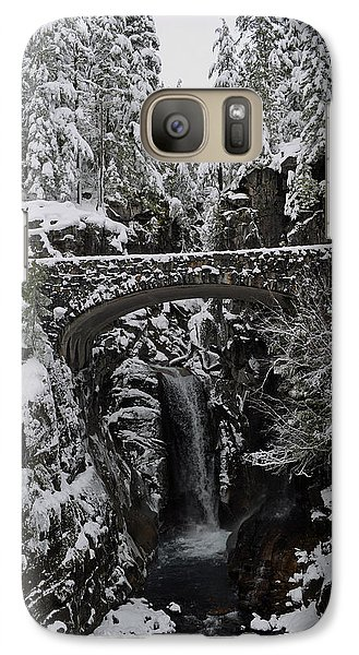 Galaxy Case featuring the photograph Christine Falls In The Winter by Tikvah's Hope