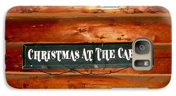 Galaxy Case featuring the photograph Christmas At The Cabin by Judyann Matthews