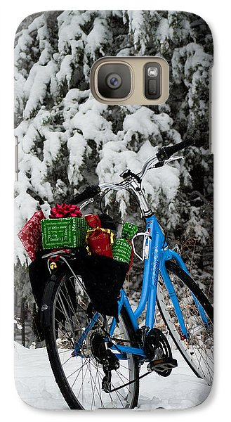 Galaxy Case featuring the photograph Christmas Bike by Wayne Meyer