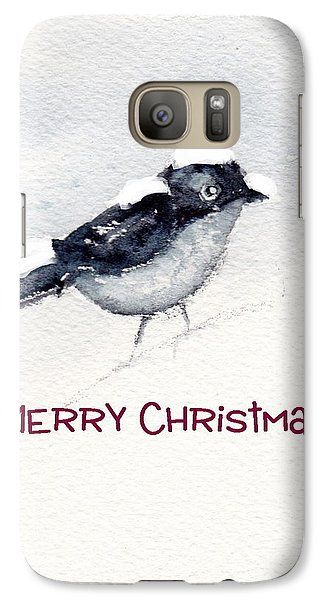 Galaxy Case featuring the painting Christmas Birds 02 by Anne Duke