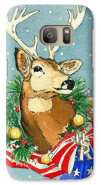 Galaxy Case featuring the painting Christmas Buck by Katherine Miller