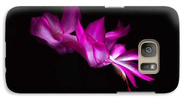 Galaxy Case featuring the photograph Christmas Cactus Blossom by Bill Swartwout