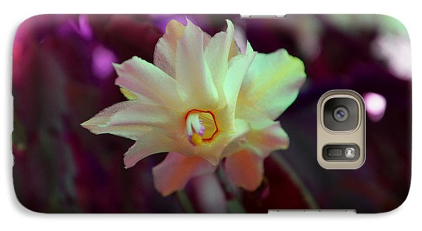 Galaxy Case featuring the photograph Christmas Cactus Flower by Ramona Matei