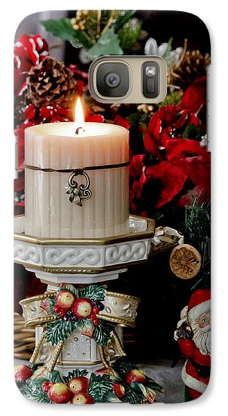 Galaxy Case featuring the photograph Christmas Candle by Ivete Basso Photography