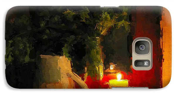 Galaxy Case featuring the painting Christmas Candle Light by Wayne Pascall