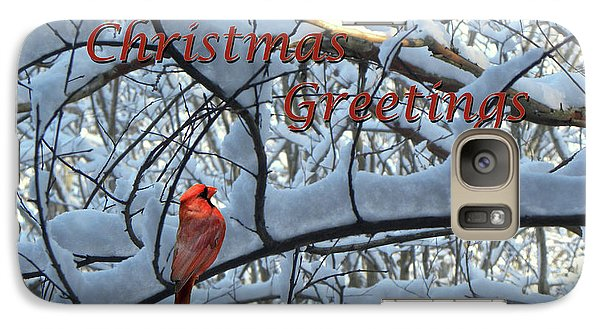 Galaxy Case featuring the photograph Christmas Card - Christmas Greeting by Larry Bishop