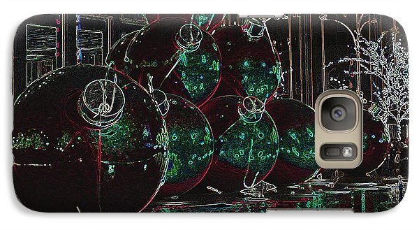 Galaxy Case featuring the photograph Christmas Card by Laurinda Bowling