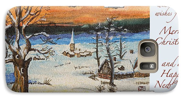 Galaxy Case featuring the painting Christmas Card Painting by Peter v Quenter