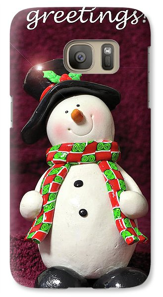 Galaxy Case featuring the photograph Christmas Card - Santa Greetings by Larry Bishop