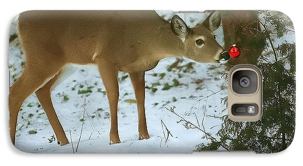 Galaxy Case featuring the photograph Christmas Doe by Clare VanderVeen