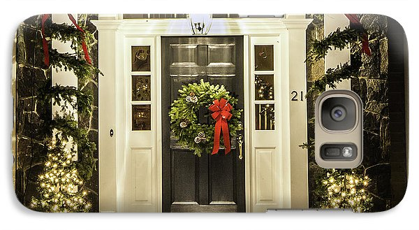 Galaxy Case featuring the photograph Christmas Door 2 by Betty Denise