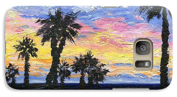 Galaxy Case featuring the painting Christmas Eve In Redondo Beach by Jamie Frier