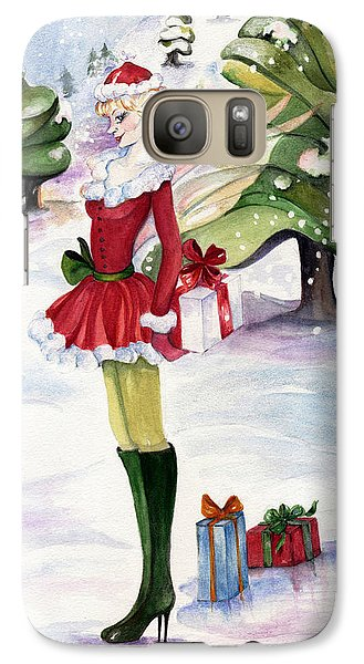 Galaxy Case featuring the painting Christmas Fantasy  by Nadine Dennis