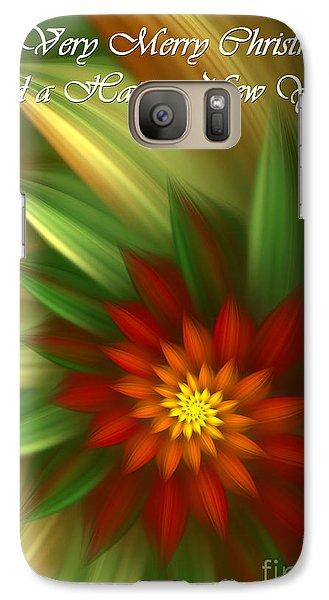 Galaxy Case featuring the digital art Christmas Flower by Svetlana Nikolova