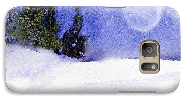 Galaxy Case featuring the painting Christmas Forest  03 by Anne Duke