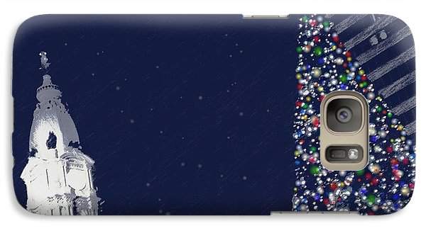 Galaxy Case featuring the photograph Christmas In Center City by Photographic Arts And Design Studio
