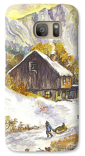 Galaxy Case featuring the painting A Winter Wonderland Part 1 by Carol Wisniewski