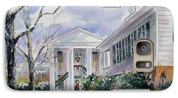 Galaxy Case featuring the painting Christmas In Cheraw Prints by Gloria Turner