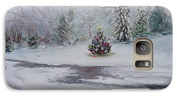 Galaxy Case featuring the painting Christmas In The Woods by Catherine Hamill