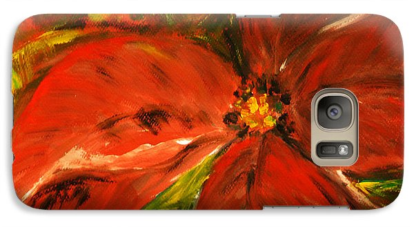 Galaxy Case featuring the painting Christmas Star by Jasna Dragun
