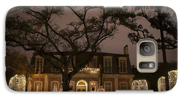 Galaxy Case featuring the photograph Christmas Lights On St Charles Avenue by Ray Devlin