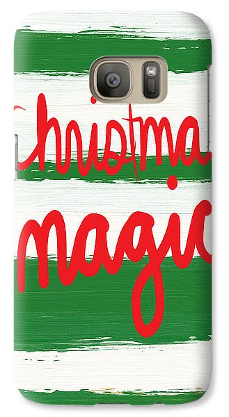 Magician Galaxy S7 Case - Christmas Magic - Greeting Card by Linda Woods