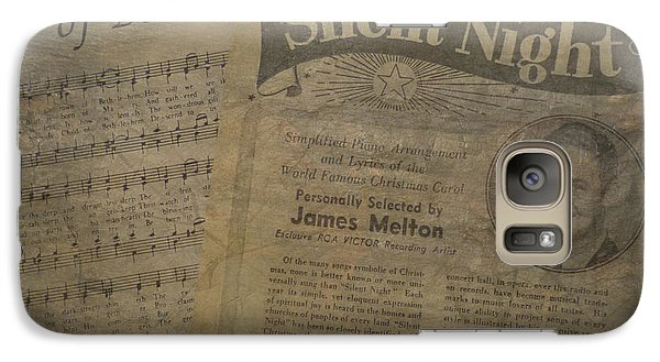 Galaxy Case featuring the photograph Christmas Music Memories by Cindy Wright