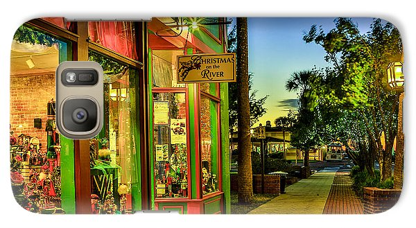 Galaxy Case featuring the photograph Sunset Christmas Store by Paula Porterfield-Izzo