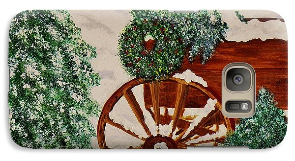 Galaxy Case featuring the painting Christmas On The Farm by Celeste Manning