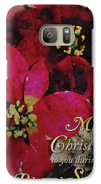 Galaxy Case featuring the photograph Christmas Poinsettia by Cheryl McClure