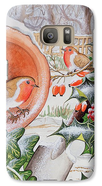 Christmas Robins Galaxy Case by Tony Todd
