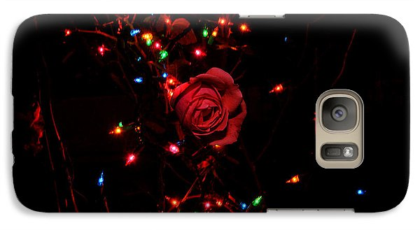 Galaxy Case featuring the photograph Christmas Rose by Diane Lent