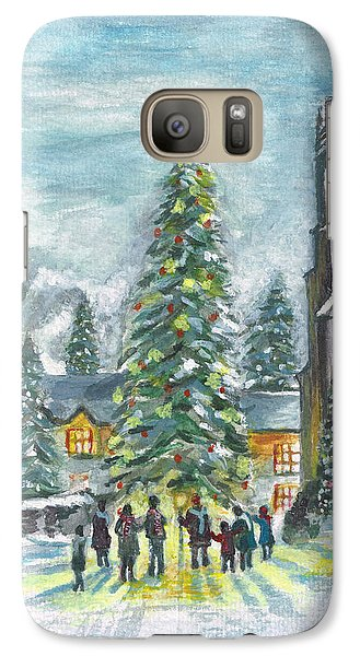 Galaxy Case featuring the painting Christmas Spirit by Teresa White