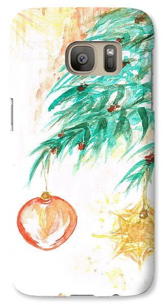 Galaxy Case featuring the painting Christmas Star by Teresa White