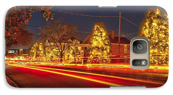 Galaxy Case featuring the photograph Christmas Town Usa by Alex Grichenko