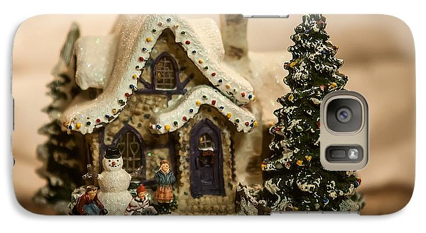 Galaxy Case featuring the photograph Christmas Toy Village by Alex Grichenko