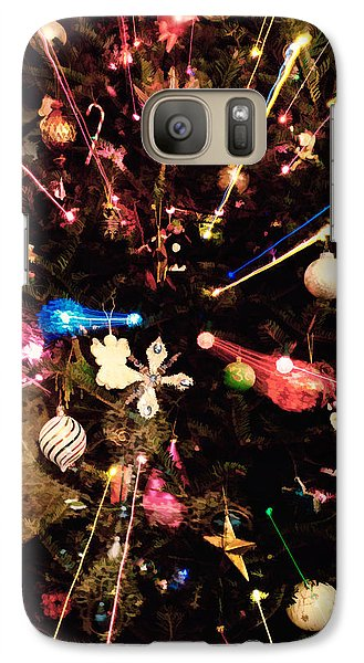 Galaxy Case featuring the photograph Christmas Tree Lights by Vizual Studio
