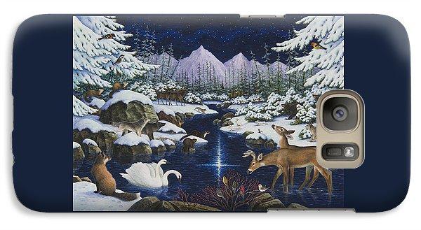 Beaver Galaxy S7 Case - Christmas Wonder by Lynn Bywaters