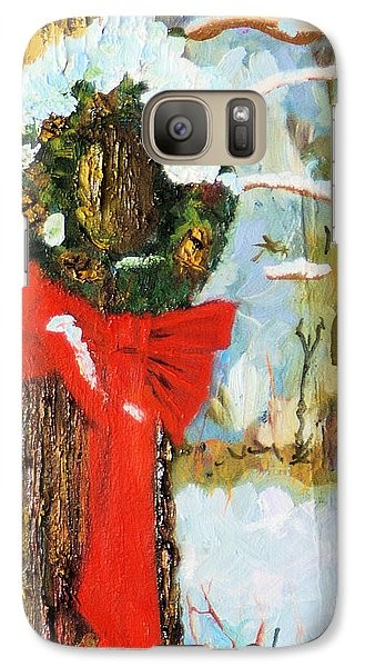 Galaxy Case featuring the painting Christmas Wreath by Michael Daniels