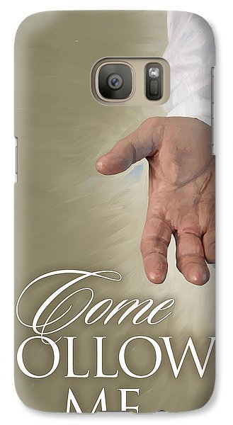 Galaxy Case featuring the painting Christ's Hand by Rob Corsetti