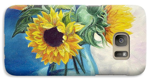 Galaxy Case featuring the painting Chrysanthemums by Sorin Apostolescu