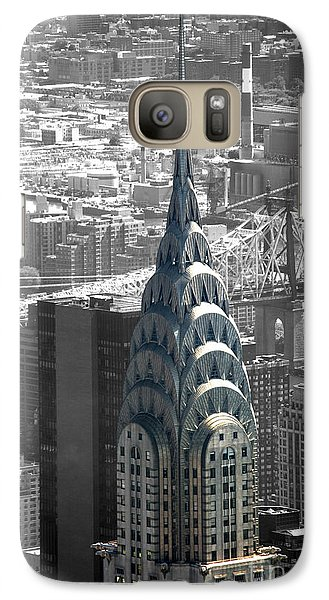 Galaxy Case featuring the photograph Chrysler Building by Angela DeFrias