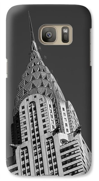 Chrysler Building Galaxy S7 Case - Chrysler Building Bw by Susan Candelario