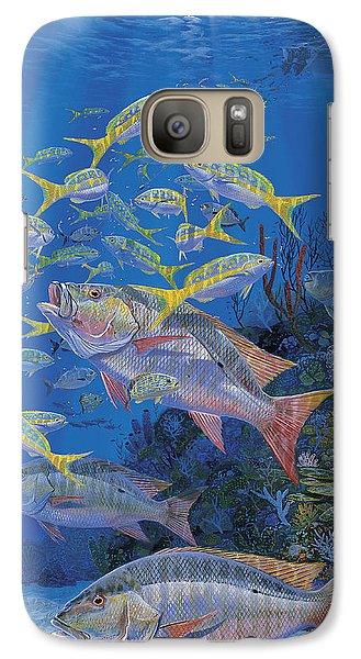 Salmon Galaxy S7 Case - Chum Line Re0013 by Carey Chen